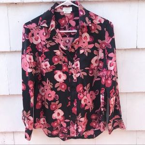 Kate Spade Floral Button Blouse